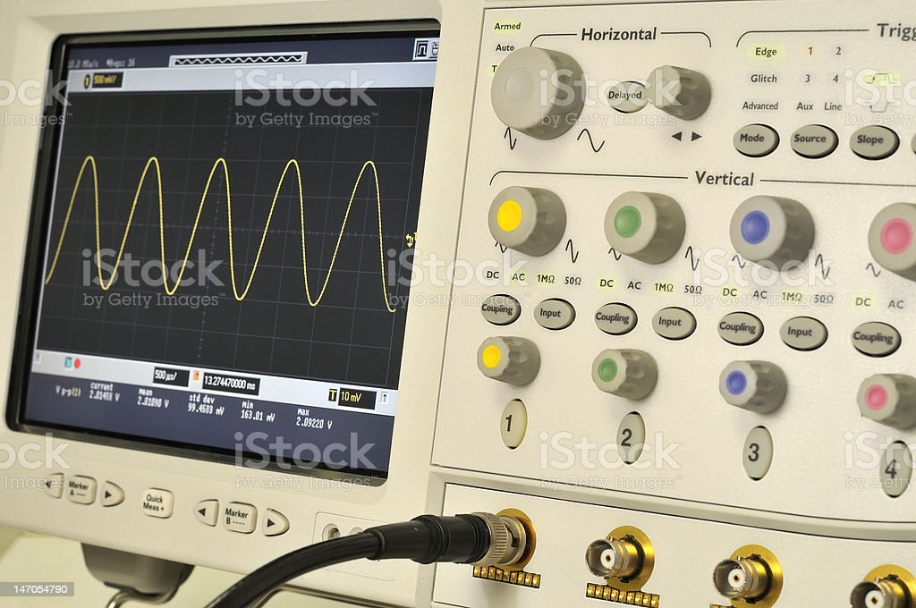 Oscilloscope royalty-free stock photo