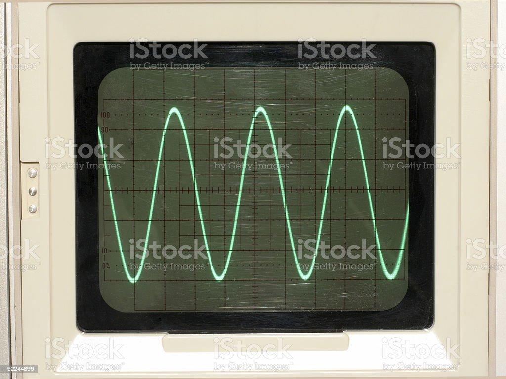Oscilloscope Trace stock photo