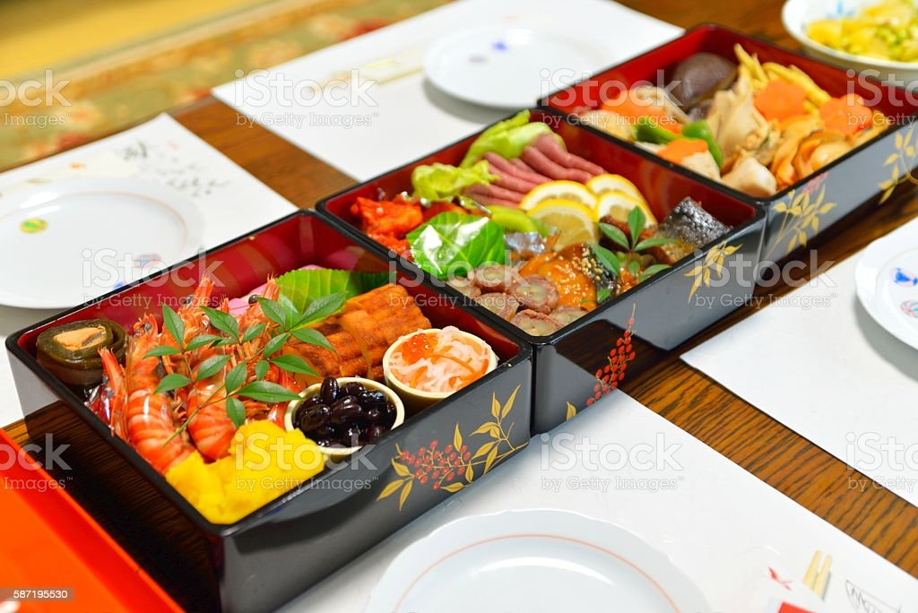 Osechi: Japanese New Year's meal stock photo