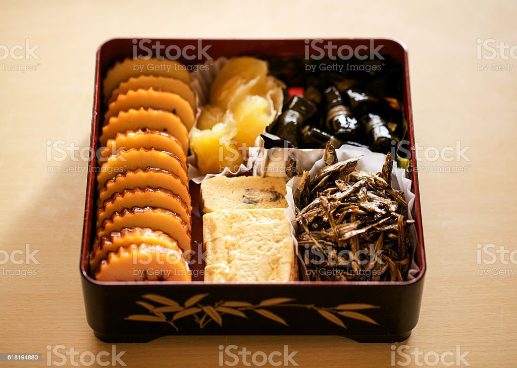 Osechi Japanese New Year's meal  stock photo