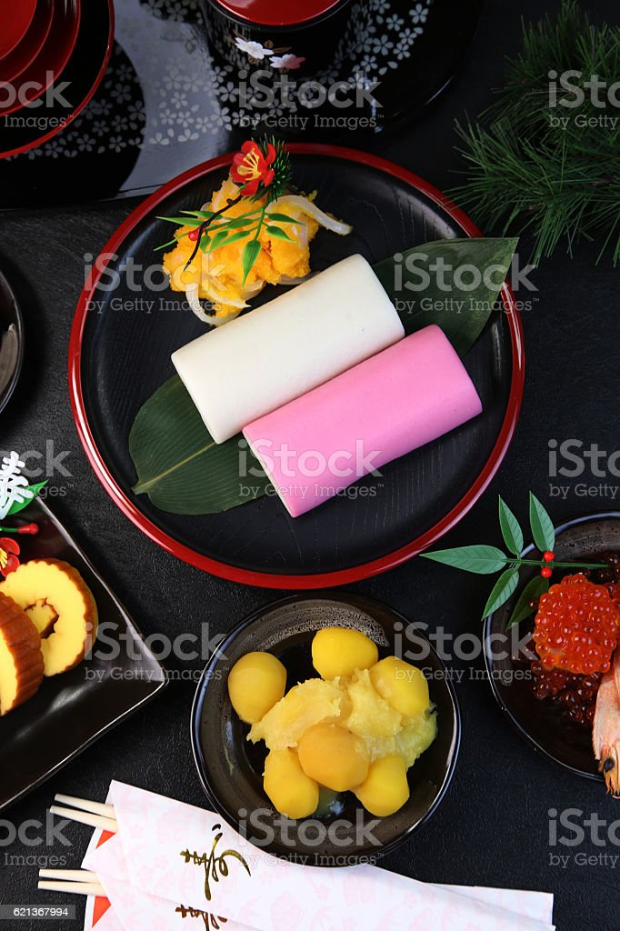 Osechi /Special dishes prepared for the New Year stock photo