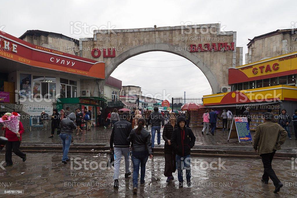 Osh Bazaar in Bishkek, Kyrgyzstan stock photo
