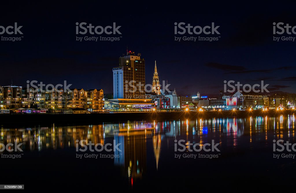 Osijek at Night stock photo