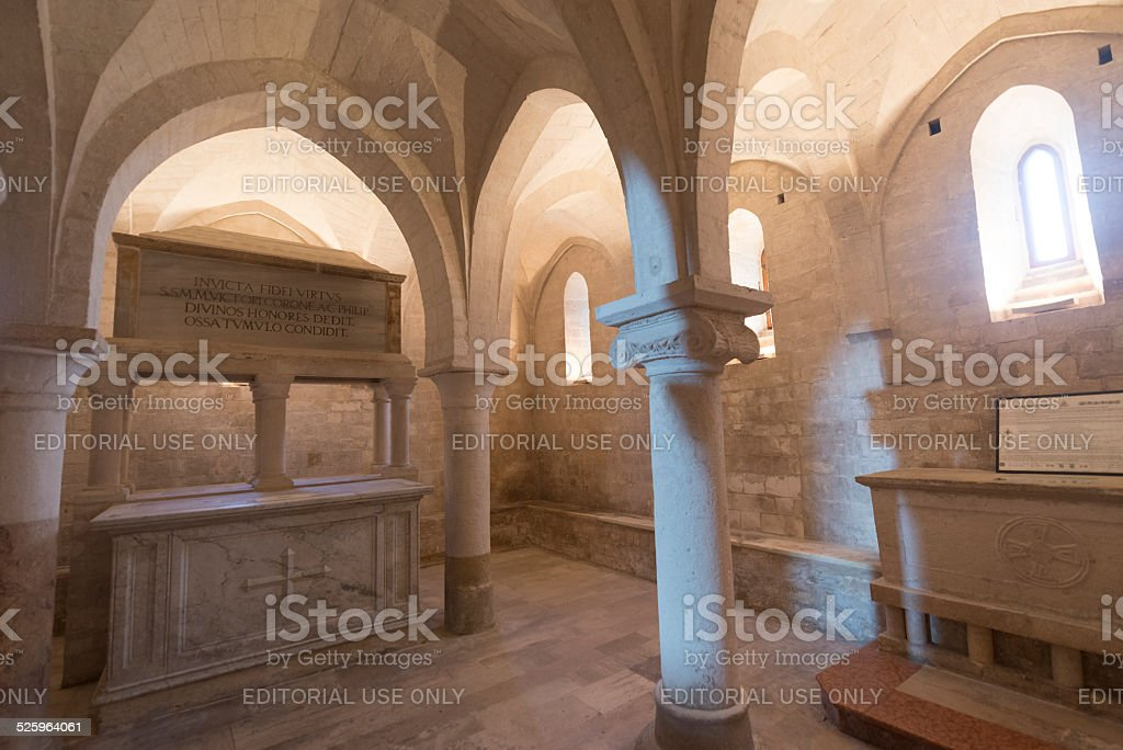 Osimo (Italy): cathedral stock photo