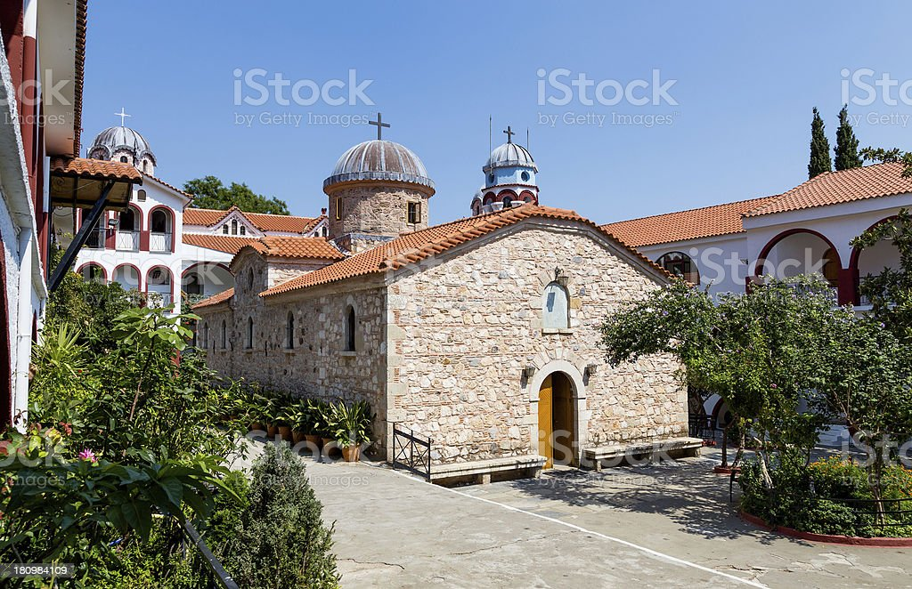Osios David Monastery, Euboea, Greece stock photo