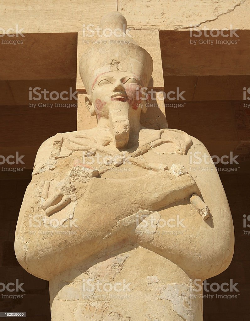 Osirid statue at Queen Hatshepsut's Temple royalty-free stock photo