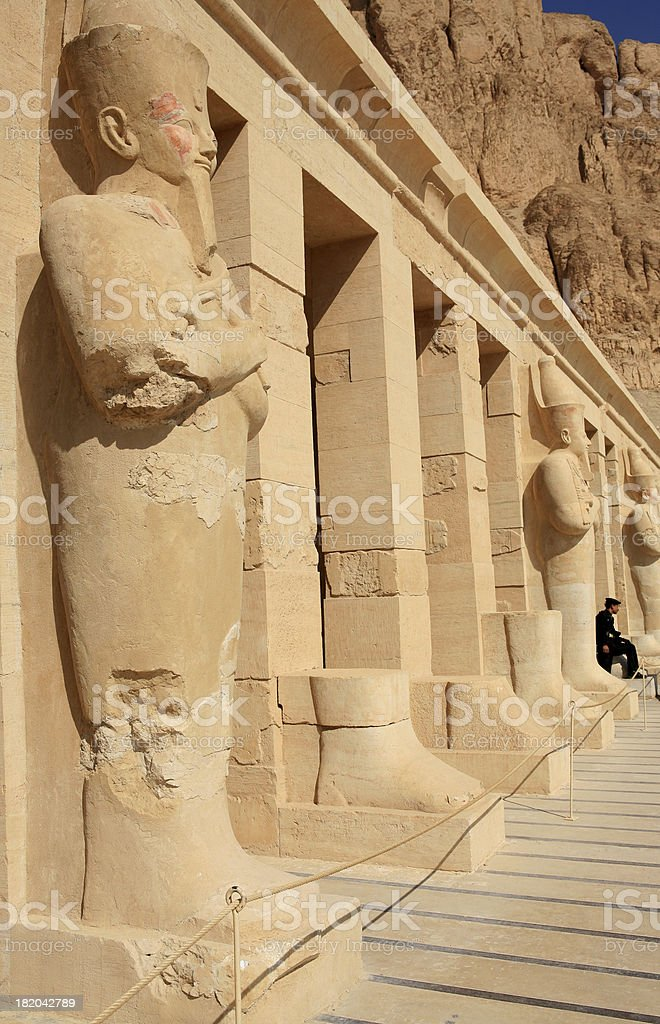 Osirid Statues at Queen Hatshepsut's Temple royalty-free stock photo