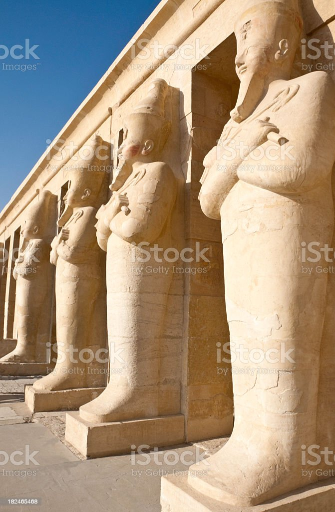Osiris - Temple of Hatshepsut stock photo