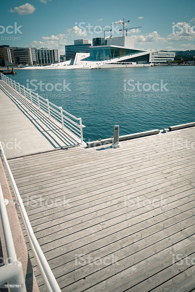 Oslo Cityscape, Harbour and Opera House royalty-free stock photo