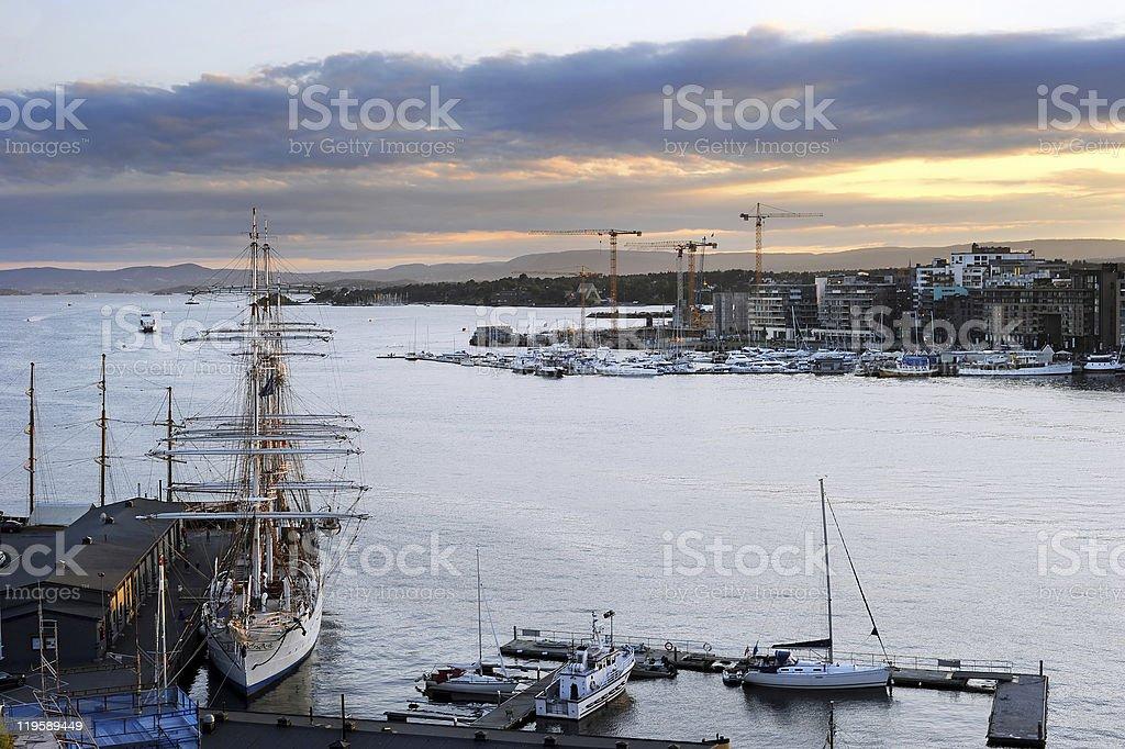 Oslo harbor royalty-free stock photo