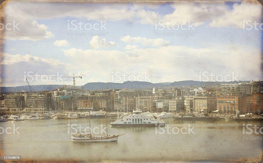 Oslo harbor. royalty-free stock photo