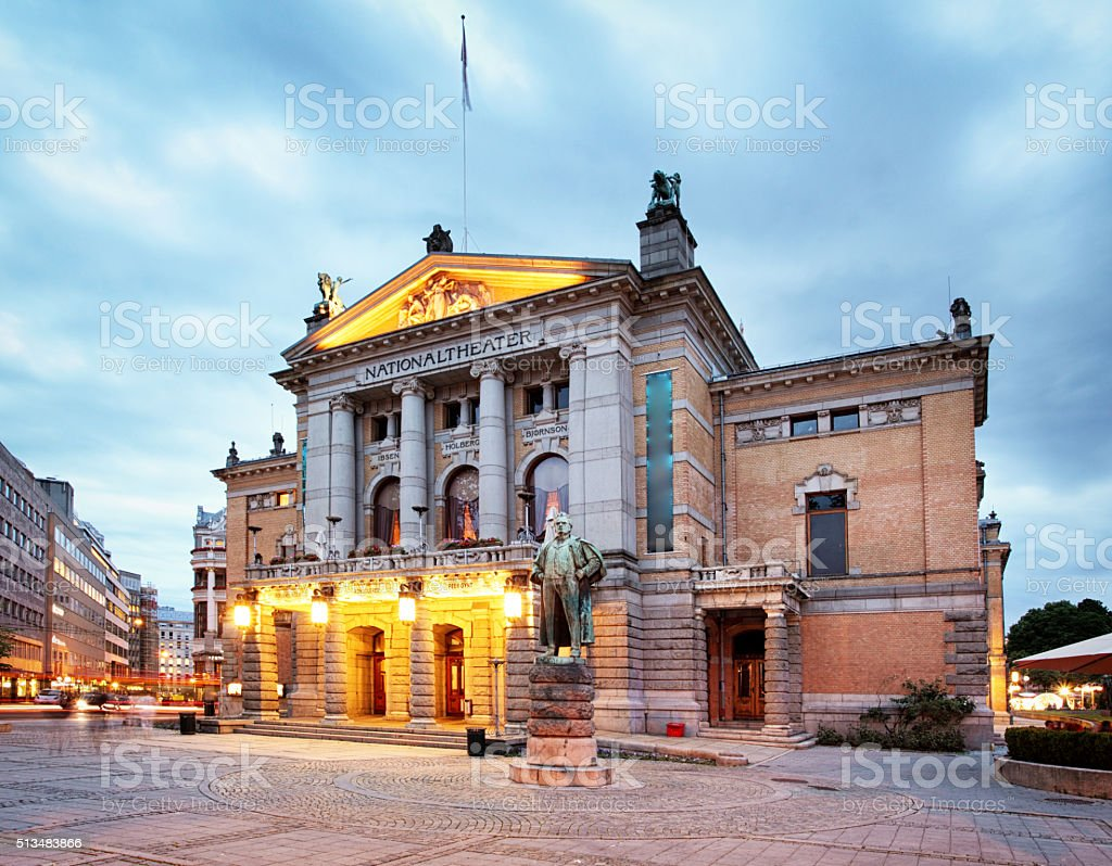 Oslo - National theater, Norway stock photo