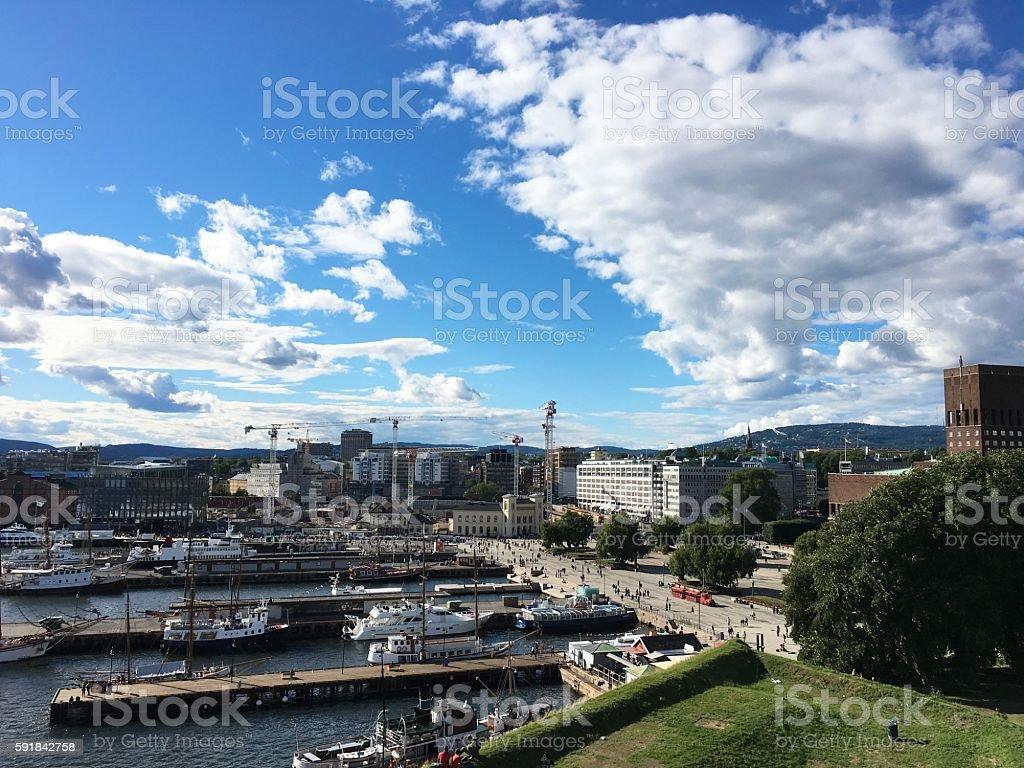 Oslo, la Norvège. photo libre de droits