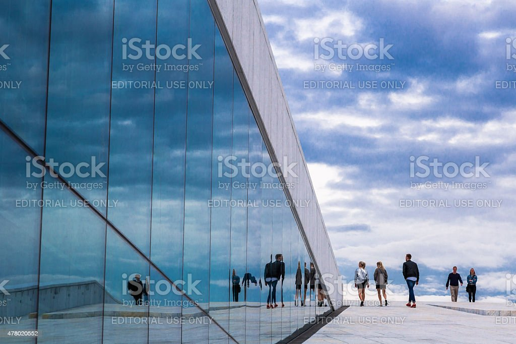Oslo Opera House, Oslo, Norway stock photo