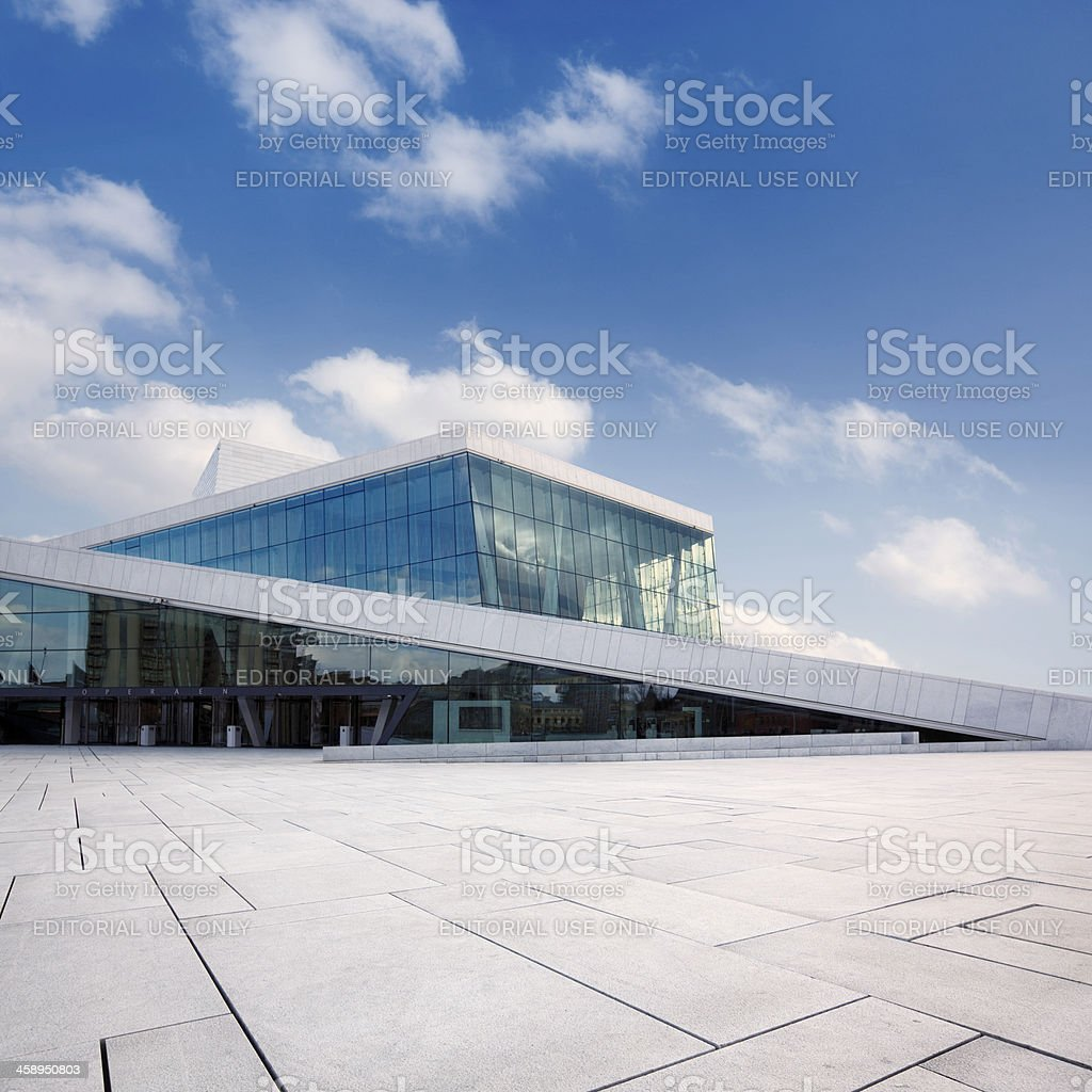 Oslo opera house royalty-free stock photo