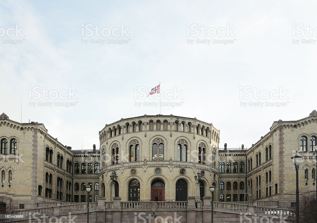 Oslo Parliament royalty-free stock photo