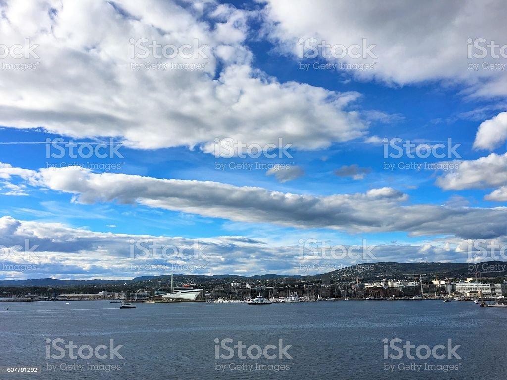 Oslo, la capitale de la Norvège. photo libre de droits