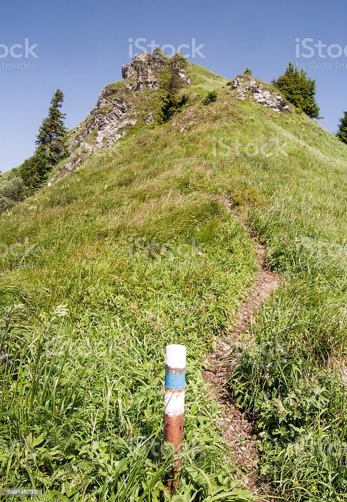 Osnica hill in Mala Fatra mountains in Slovakia stock photo