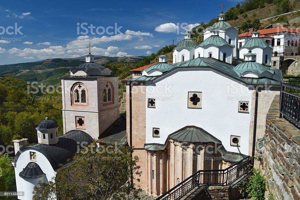 Osogovo Monastery near Kriva Palanka, Macedonia stock photo