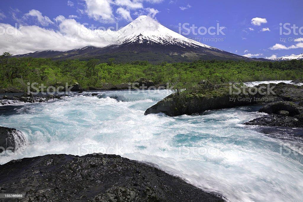 Osorno Volcano in Chilean Lake District stock photo
