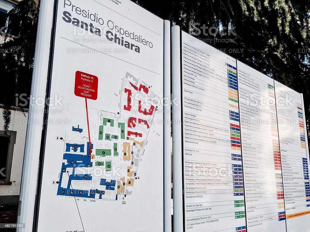 Ospedale Santa Chiara, Pisa stock photo