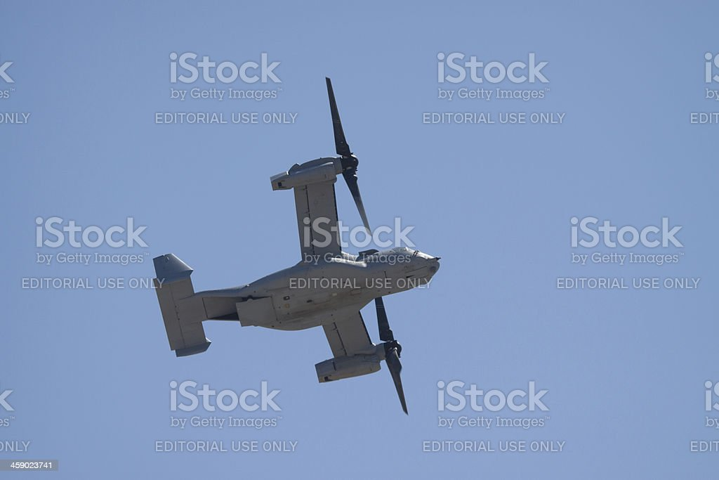 Osprey Helicopter From Below stock photo