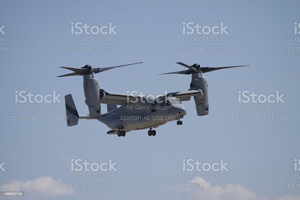 Osprey Helicopter High In The Clouds royalty-free stock photo