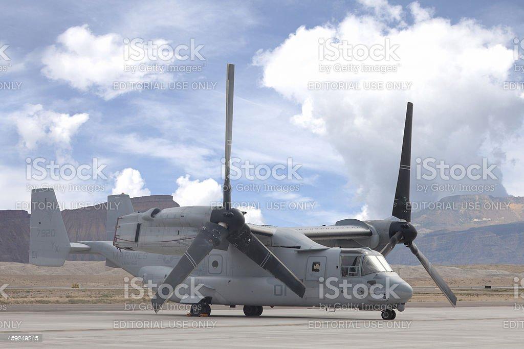 V-22 Osprey on Tarmac stock photo