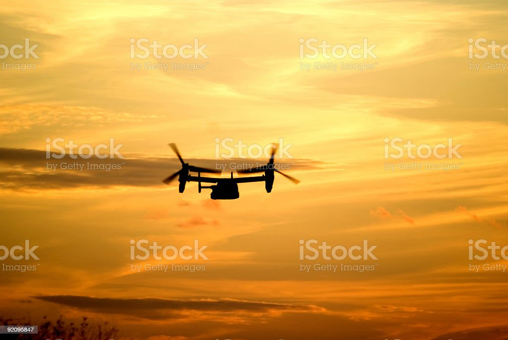 Osprey V22 Morning Flight stock photo