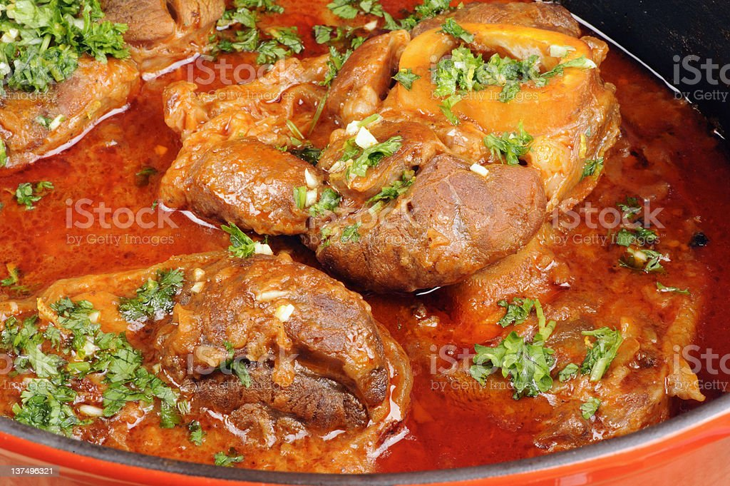 Osso buco with gremolata royalty-free stock photo