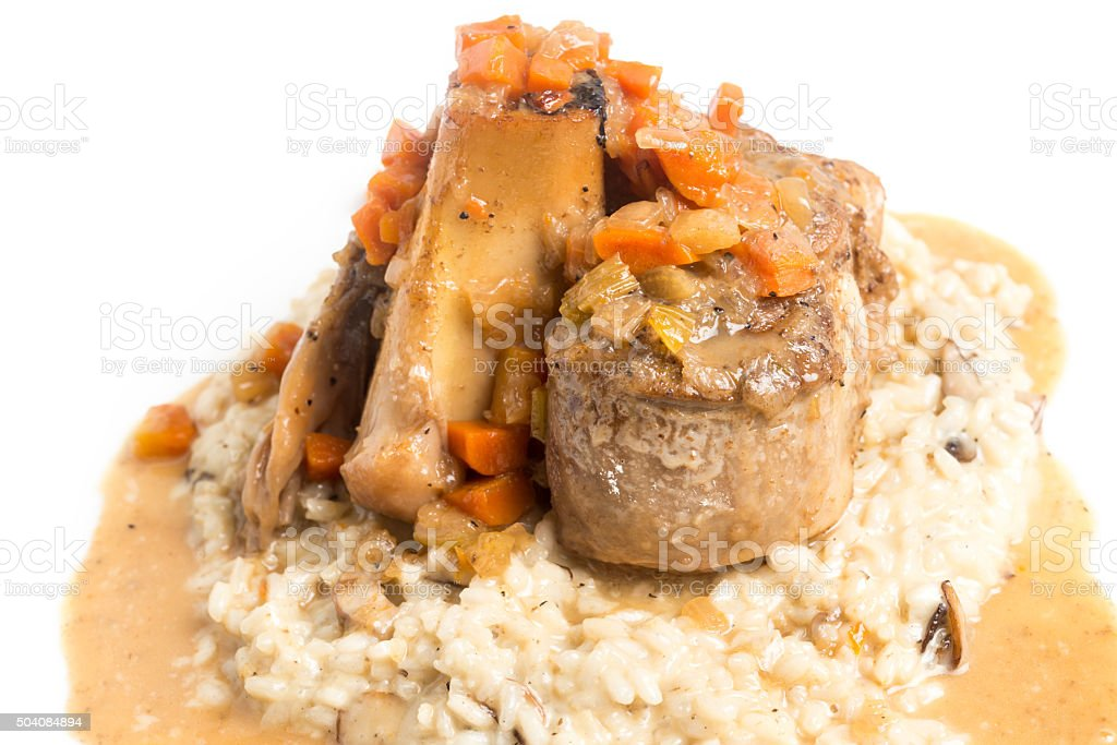 Osso Buco with Risotto stock photo