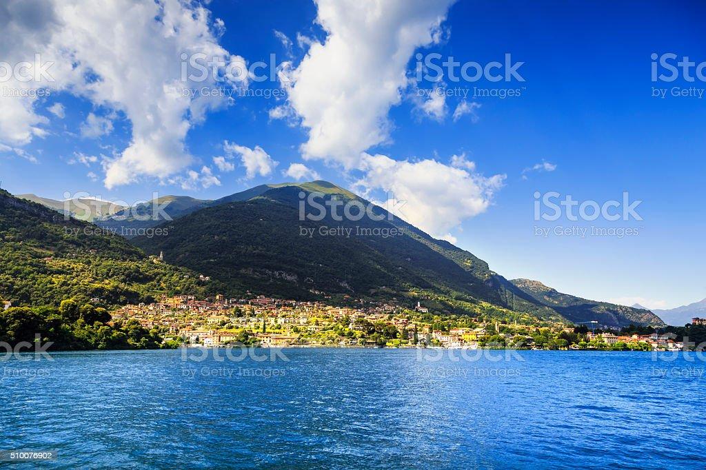 Ossuccio Tremezzina view, Como Lake district landscape. Italy, E stock photo