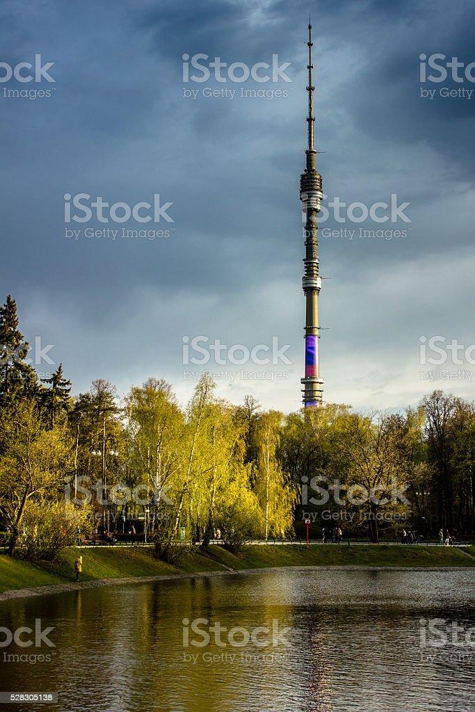 Ostankino Tower stock photo