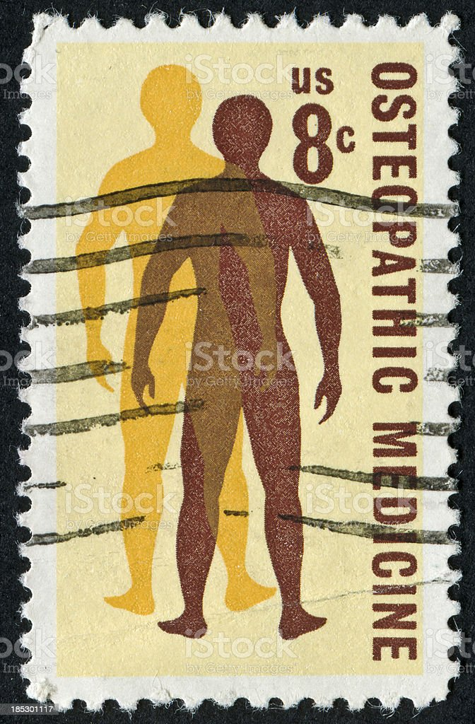 Osteopathic Medicine Stamp royalty-free stock photo
