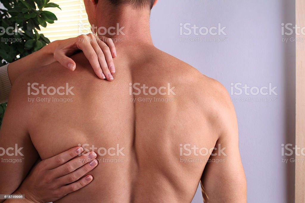 Osteopathy, Alternative medicine, pain relief concept stock photo