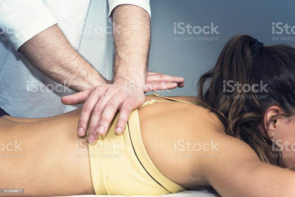 Osteopathy stock photo