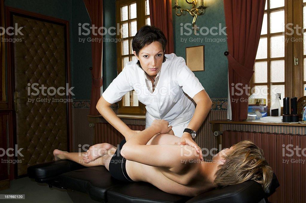 Osteopathy,Etiopathie royalty-free stock photo