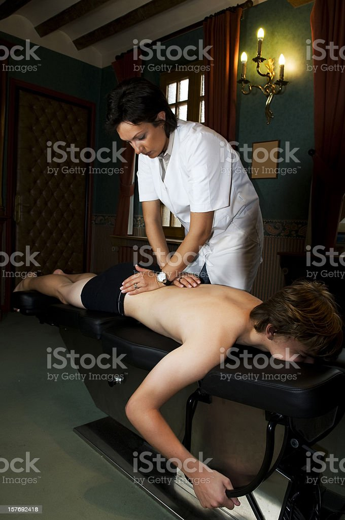 Osteopathy,Etiopathie royalty-free stock photo