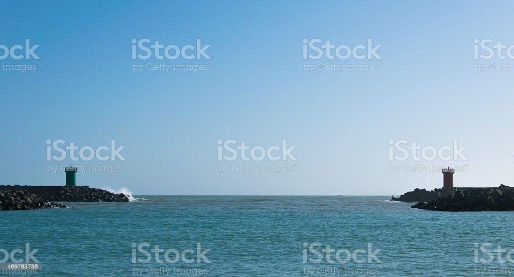 Ostia's Pier stock photo