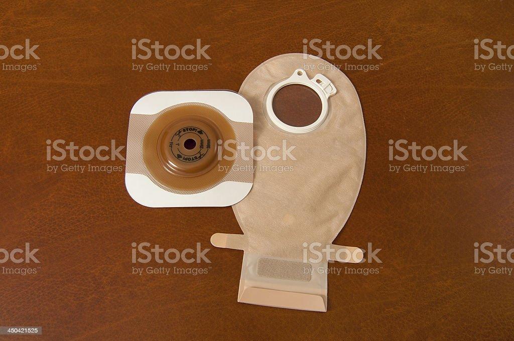 Ostomy bag and seal stock photo