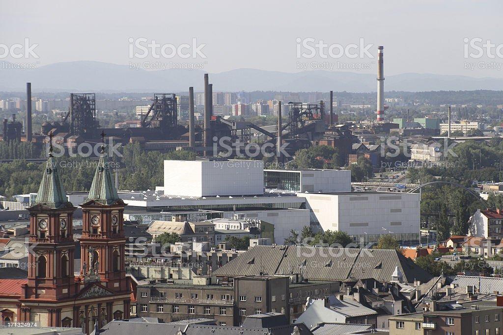 Ostrava cityscape view horizontal royalty-free stock photo