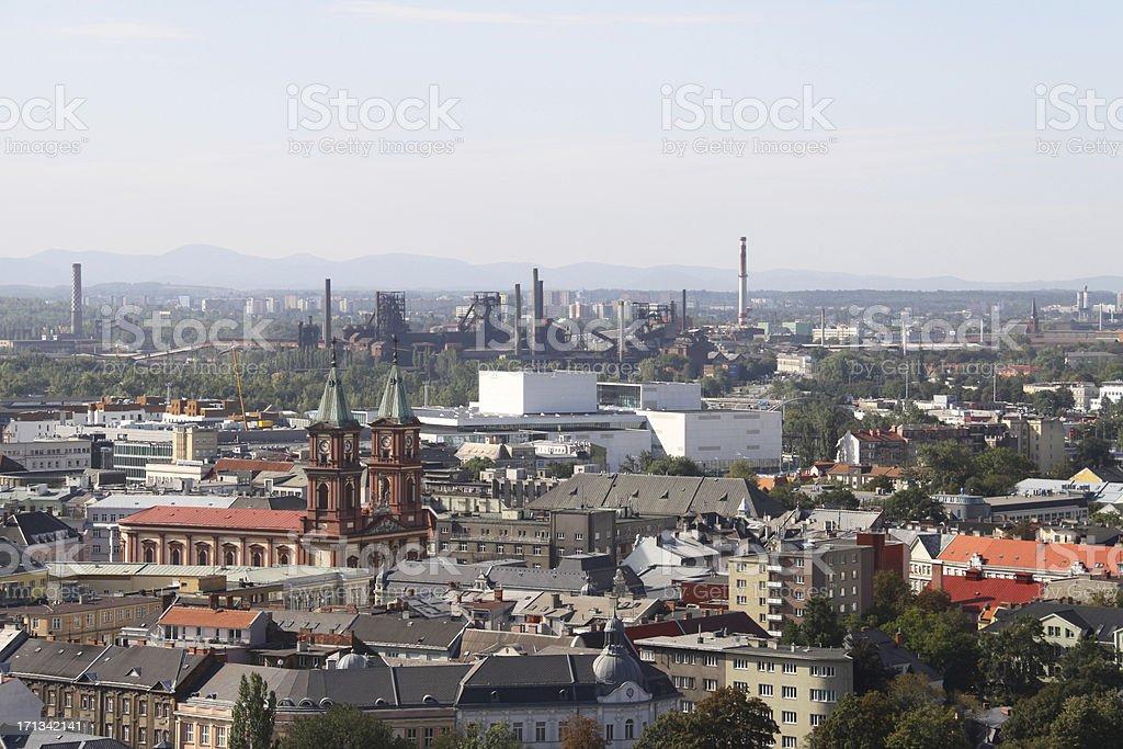 Ostrava cityscape view royalty-free stock photo