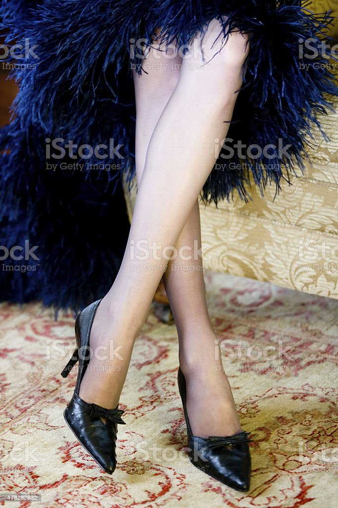 Ostrich Leather Shoes royalty-free stock photo