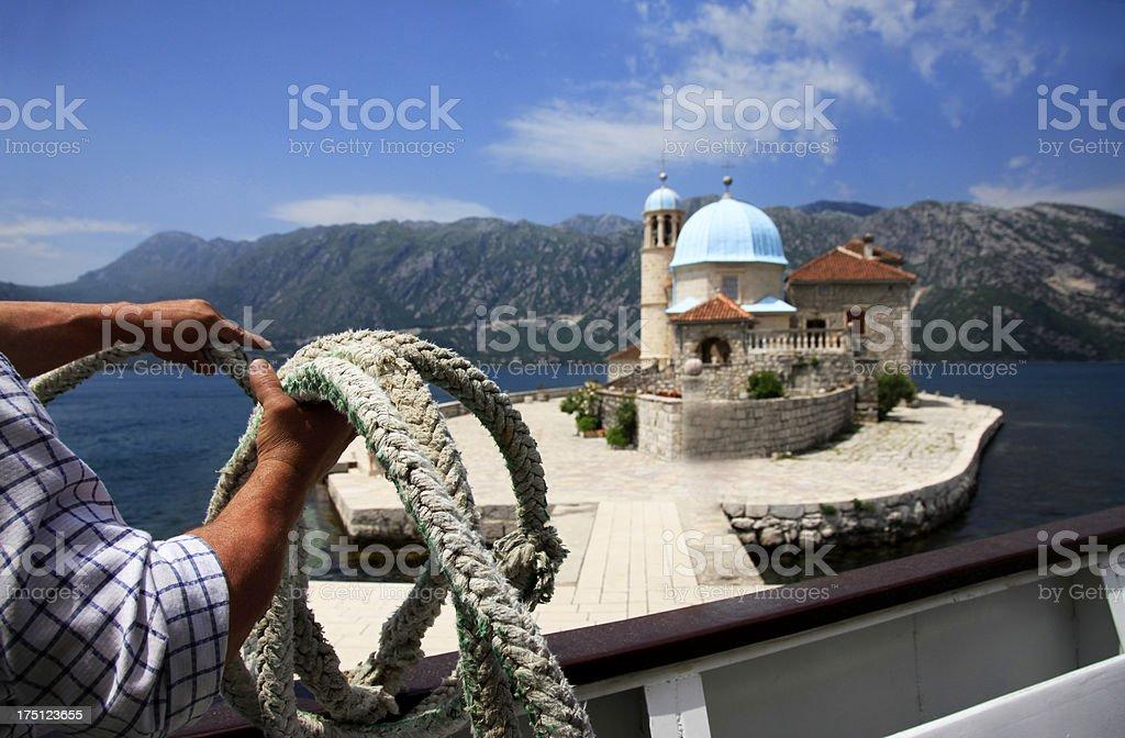 Ostrvo Sv. Dordije royalty-free stock photo