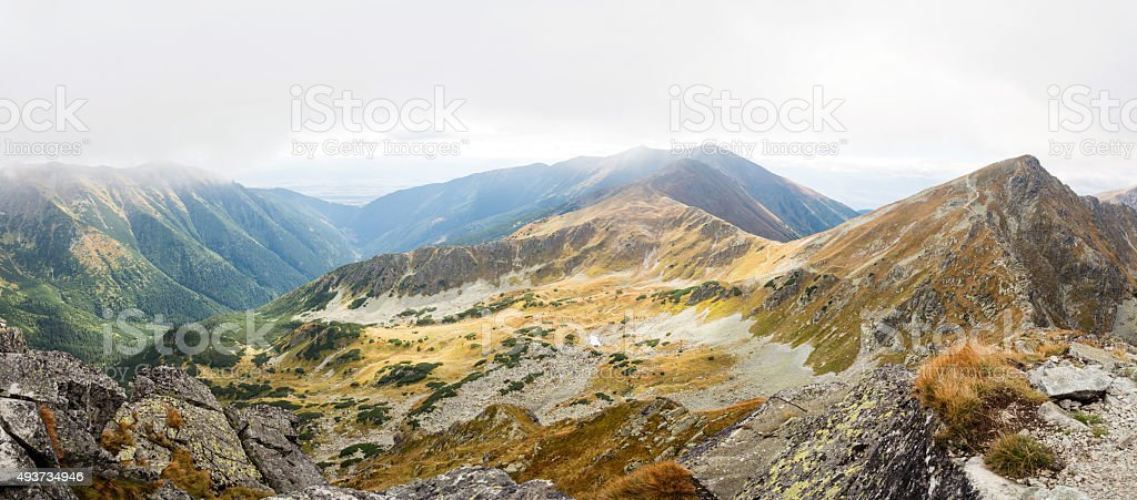 Ostry Rohac and Placlive peaks at Tatras stock photo