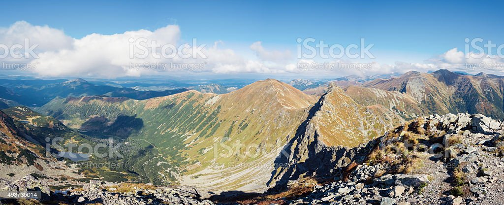 Ostry Rohac and Volovec peaks at Tatras stock photo