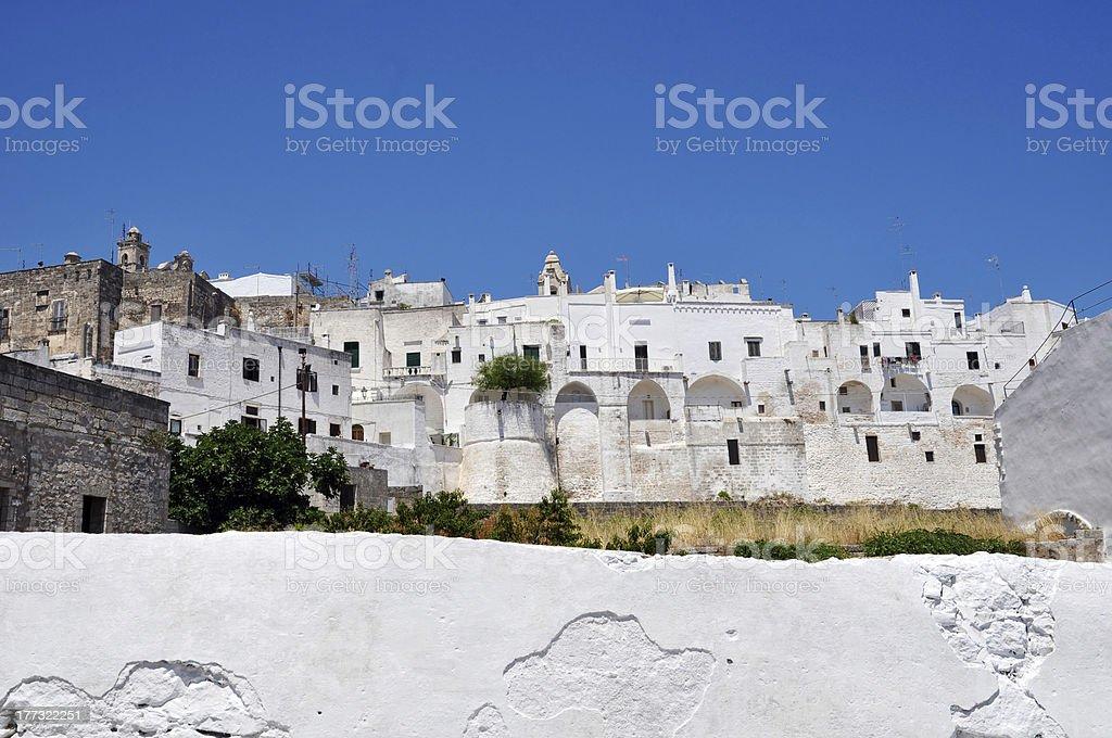 Ostuni the White City Panorama royalty-free stock photo