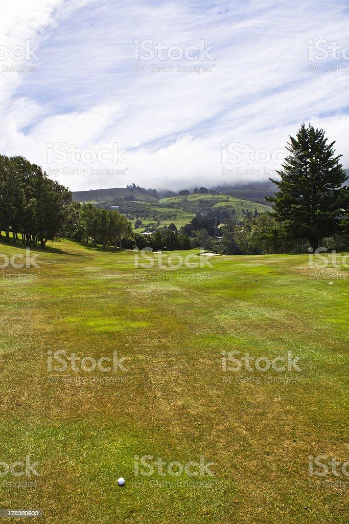 Otago Golf Course in New Zealand stock photo
