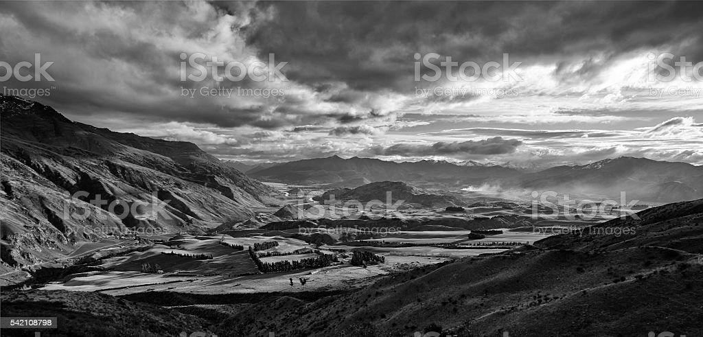 Otago Landscape Scenic stock photo