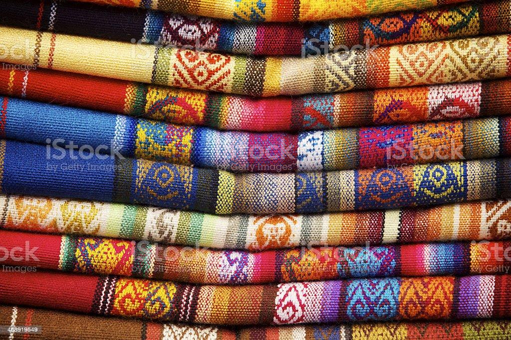 Otavalo Blankets stock photo